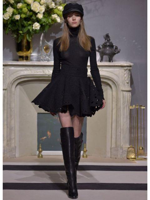 Clothing, Dress, Style, Fashion accessory, Costume accessory, Fashion, Black, Knee, Boot, Knee-high boot,