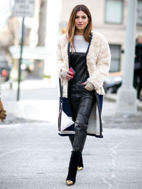 Clothing, Textile, Joint, Outerwear, Denim, Style, Street fashion, Winter, Bag, Fashion,