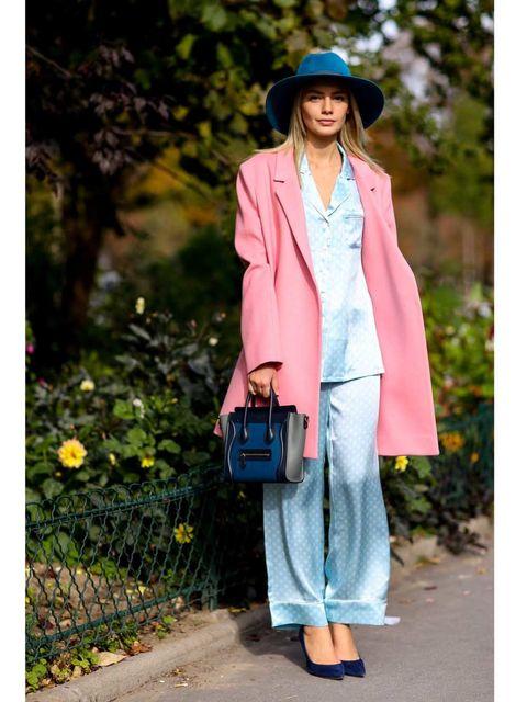 Clothing, Hat, Sleeve, Textile, Bag, Outerwear, Fashion accessory, Coat, Style, Street fashion,
