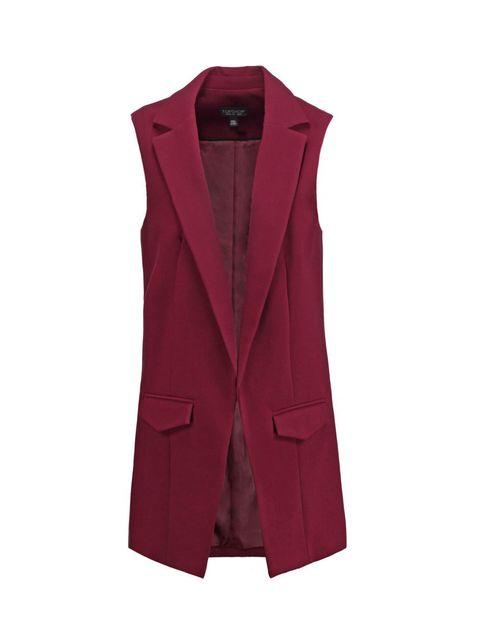Coat, Collar, Sleeve, Textile, Outerwear, Magenta, Blazer, Carmine, Jacket, Fashion,