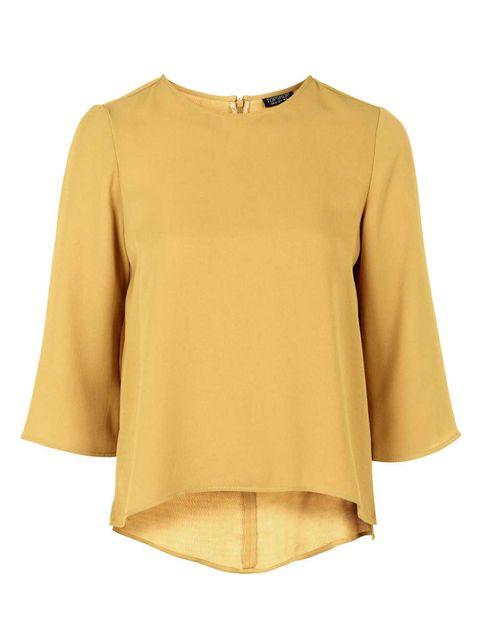Product, Yellow, Brown, Sleeve, Textile, Outerwear, White, Collar, Khaki, Coat,