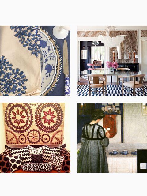 Textile, Dishware, Porcelain, Serveware, Pattern, Blue and white porcelain, Creative arts, Ceramic, Interior design, Visual arts,