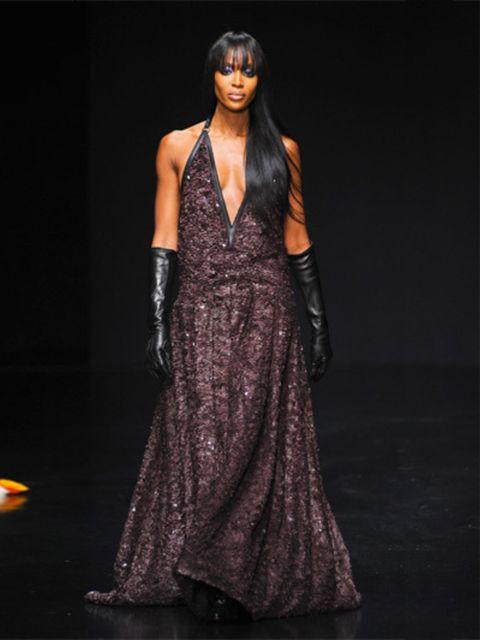 Fashion show, Dress, Formal wear, Style, Fashion model, Fashion, One-piece garment, Model, Gown, Runway,