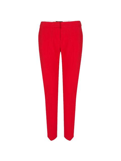 Standing, Red, Denim, Carmine, Waist, Pocket, Active pants, Hip,