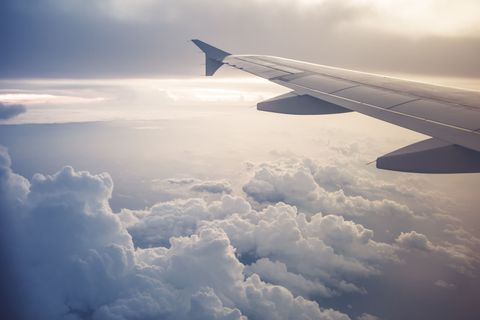 Sky, Daytime, Airplane, Cloud, Atmosphere, Aircraft, Airliner, Air travel, Aviation, Airline,
