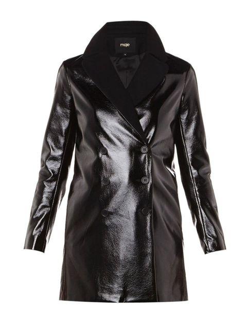 Sleeve, Collar, Textile, Jacket, Outerwear, Coat, Style, Leather, Fashion, Black,