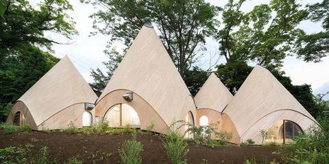 binnenkijken, architectuur, Forest House, Japan, bos, hut, interieur