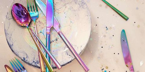 Purple, Kitchen utensil, Colorfulness, Cutlery, Spoon, Violet, Lavender, Paint, Household silver, Painting,