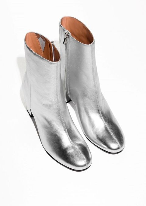 Brown, Tan, Beige, Leather, Boot, Silver, Dress shoe, Fashion design, Synthetic rubber, Dancing shoe,