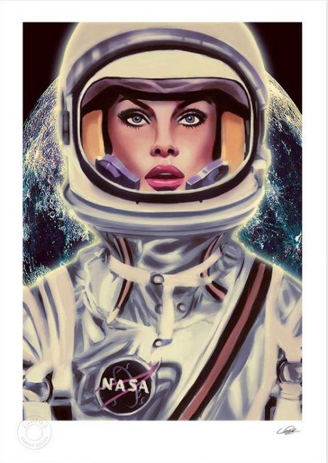 Art, Animation, Space, Fictional character, Painting, Illustration, Astronaut, Drawing, Cg artwork,
