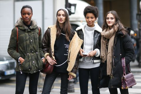 Clothing, Winter, Trousers, Jacket, Coat, Textile, Outerwear, Style, Street fashion, Bag,