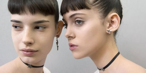 Ear, Nose, Lip, Cheek, Hairstyle, Skin, Earrings, Eyelash, Chin, Forehead,