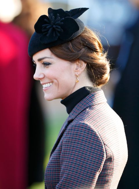 Kate Middleton Best Hairstyles - woven with hat
