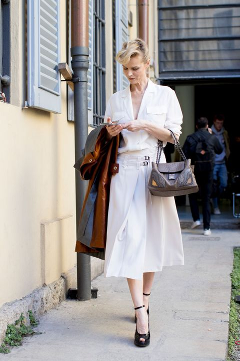 Models off duty Milan Fashion Week AW17