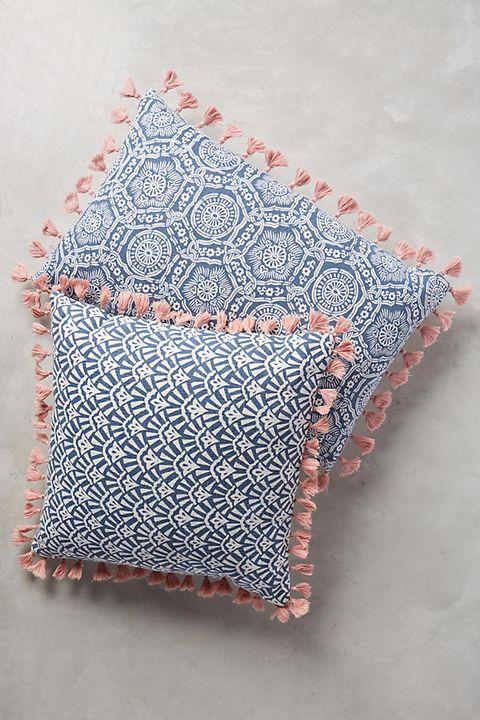 Pillow, Cushion, Textile, Throw pillow, Pattern, Needlework, Linens, Knitting, Wool, Furniture,