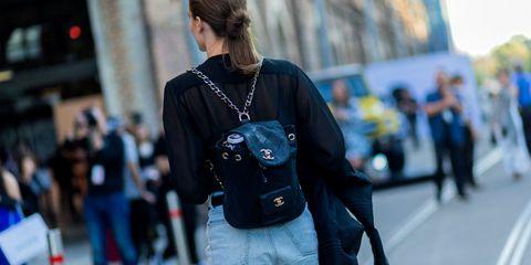 Street fashion, Shoulder, Denim, Fashion, Jeans, Joint, Waist, Textile, Electric blue, Footwear,