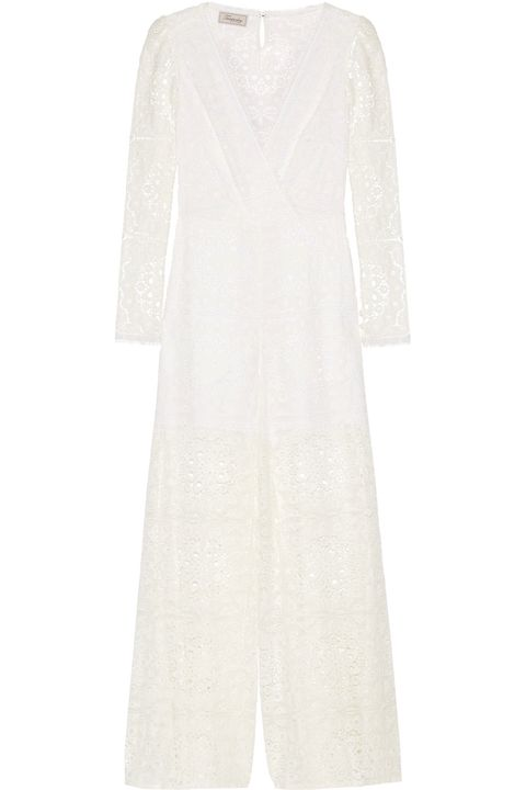 Clothing, White, Dress, Sleeve, Day dress, Outerwear, Gown, Robe, Neck, Lace,