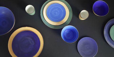 Blue, Circle, Cobalt blue, Colorfulness, Design, Electric blue, Still life photography, Pattern,