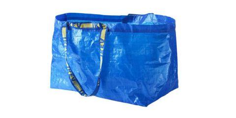 Blue, Cobalt blue, Electric blue, Shorts, Zipper, Bag, Plastic,