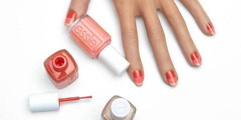 Finger, Red, Nail, Pink, Carmine, Nail care, Nail polish, Lipstick, Peach, Cosmetics,