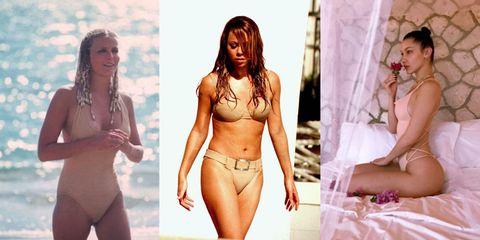 Clothing, Lingerie, Undergarment, Bikini, Model, Underpants, Stomach, Brassiere, Abdomen, Leg,