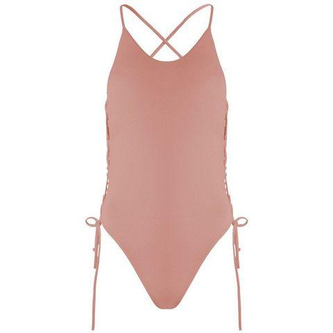 Clothing, One-piece swimsuit, Swimsuit bottom, Swimwear, Maillot, Pink, Bikini, Lingerie, Leotard, Monokini,