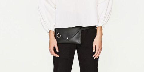 Clothing, White, Black, Neck, Collar, Waist, Blouse, Shoulder, Leather, Formal wear,