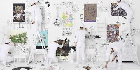 White, Wall, Fashion, Interior design, Room, Design, Fashion design, Graphic design, Illustration, Art,