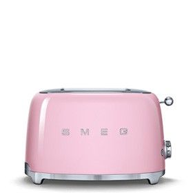 Toaster, Pink, Small appliance, Product, Home appliance, Material property, Magenta, Hand luggage, Bag, Suitcase,