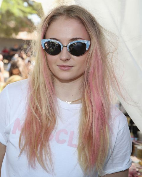 Sophie Turner Rose Gold Hair