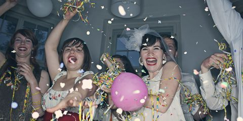 Fun, Party supply, Balloon, Happy, Party, Facial expression, Fashion accessory, Celebrating, Chest, Tooth,