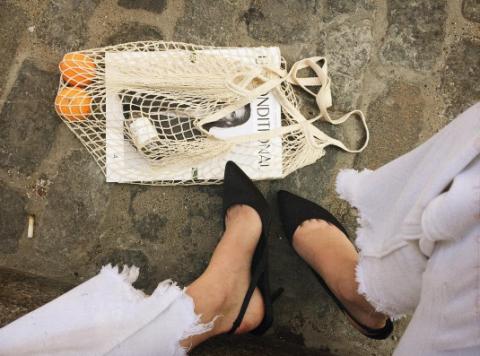 Footwear, Leg, Shoe, Human leg, Paper,
