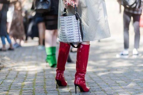 Street fashion, Photograph, White, Red, Fashion, Snapshot, Footwear, Pink, Leg, Tights,