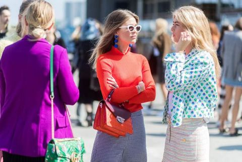 People, Red, Green, Yellow, Street fashion, Fashion, Pink, Blond, Fun, Event,