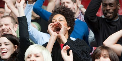 People, Facial expression, Crowd, Event, Community, Cheering, Laugh, Fun, Smile, Gesture,