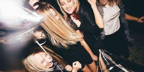 Friendship, Nightclub, Fun, Party, Event, Long hair, Music venue, Black hair, Leisure, Brown hair,