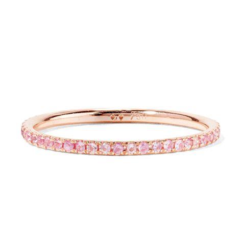 Bangle, Jewellery, Fashion accessory, Pink, Ring, Bracelet, Metal, Body jewelry, Engagement ring, Diamond,