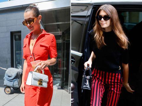 Clothing, Red, Street fashion, Eyewear, Sunglasses, Fashion, Orange, Shoulder, Waist, Outerwear,