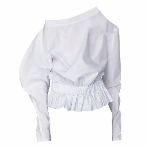 Clothing, White, Sleeve, Shoulder, Blouse, Outerwear, Neck, Collar, Joint, Top,