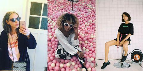 Pink, Eyewear, Fun, Selfie, Glasses, Photography, Plant, Style,