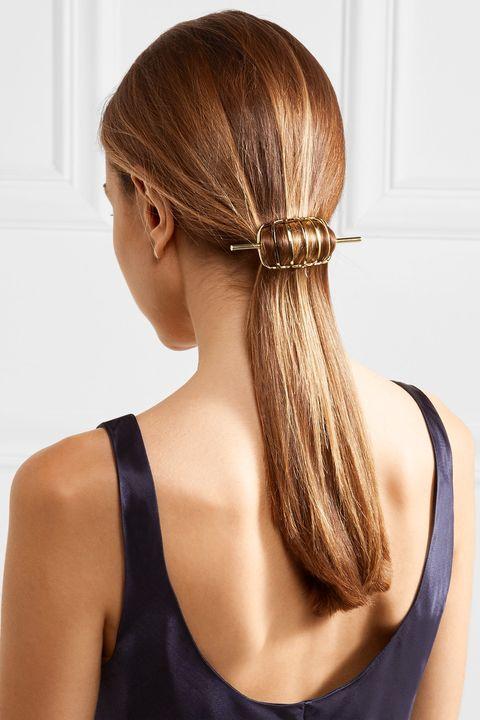 Hair, Hairstyle, Long hair, Beauty, Brown hair, Blond, Neck, Hair coloring, Hair accessory, Fashion accessory,
