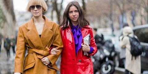 Trench coat, Street fashion, Clothing, Overcoat, Coat, Fashion, Outerwear, Fashion model, Event, Haute couture,