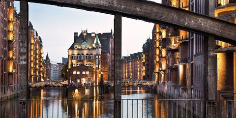Reflection, Water, Waterway, Canal, Architecture, Town, City, Building, Channel, Urban area,