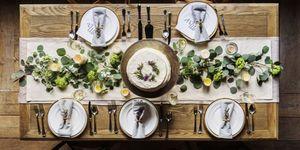 Kerst tafel dekken