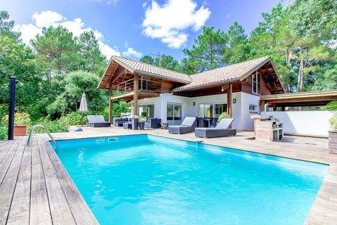 """<p>Deze villa met drie slaapkamers vind je in het zuidwesten van Frankrijk, dichtbij de stranden van Biarritz en het bos van Landes. Je kunt er met maximaal acht personen slapen (dat is dan ongeveer € 18,10 per persoon per nacht), je hebt een buitenzwembad én een groot kookgedeelte. Boeken.&nbsp;</p><p><a href=""""https://www.airbnb.co.uk/rooms/1234202"""" target=""""_blank"""" data-tracking-id=""""recirc-text-link"""">Vind je hier</a>.&nbsp;</p>"""