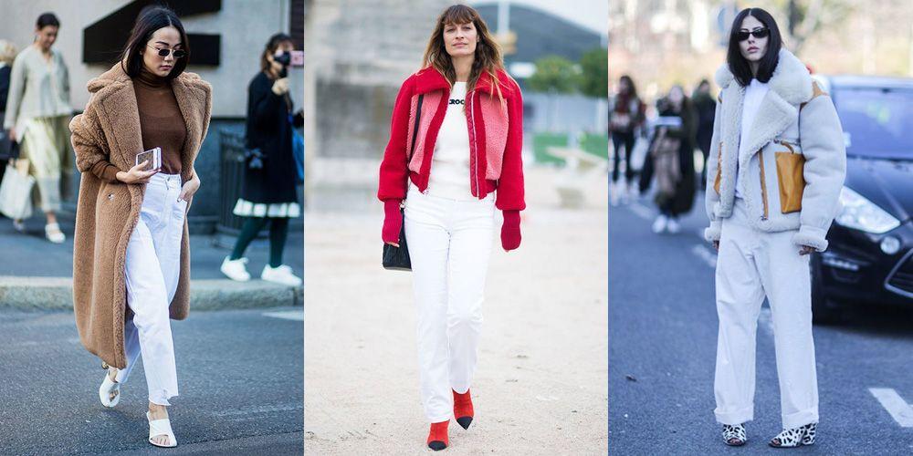 een witte broek in de winter is wel een optie.