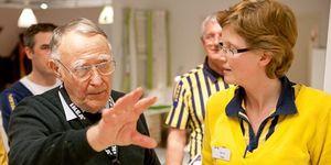 Ter nagedachtenis van de overleden IKEA-oprichter Ingvar Kamprad.