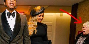 Beyoncé geschokte vrouw