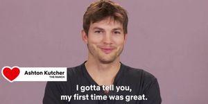 Ashton Kutcher over zijn eerste keer