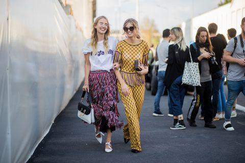 Street fashion, Fashion, Clothing, Eyewear, Design, Fashion design, Event, Sunglasses, Footwear, Glasses,
